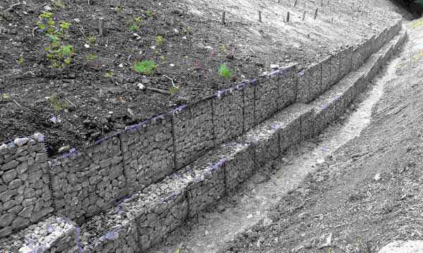 Gabion Mattresses for Slope Protection